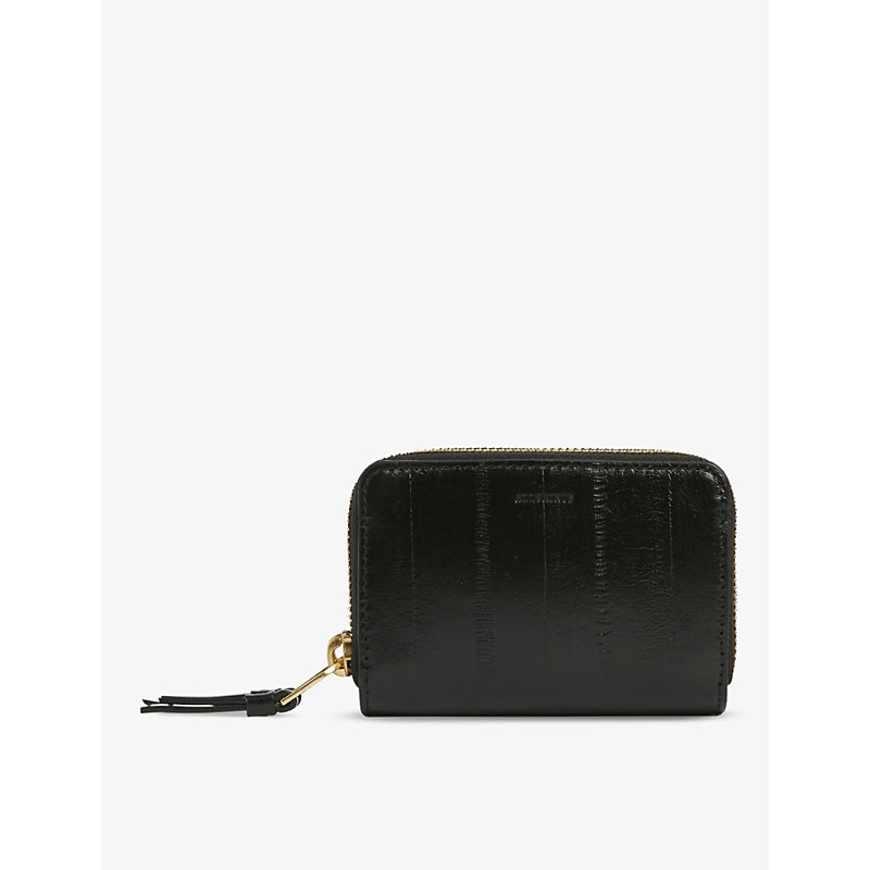 Allsaints NANTES EEL-EMBOSSED LEATHER COIN AND CARD PURSE