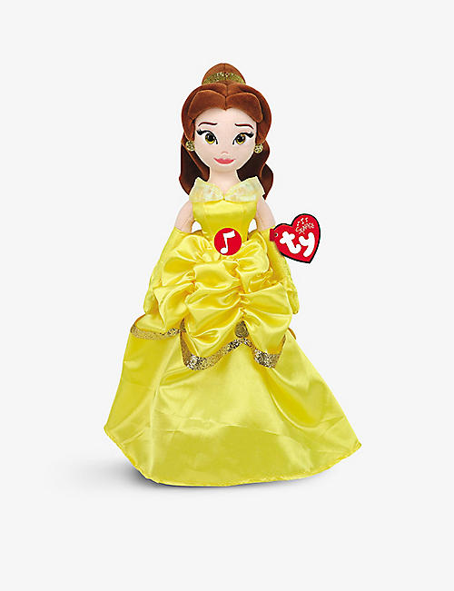 TY: Disney Princess Belle plush toy with sound 38cm