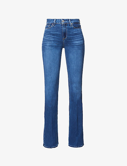 PAIGE: Laurel high-rise stretch-denim jeans
