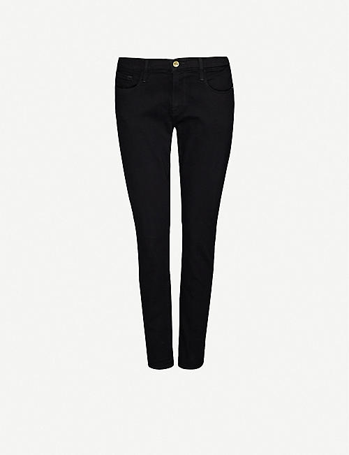 FRAME: Le Garcon straight-leg mid-rise stretch-denim jeans