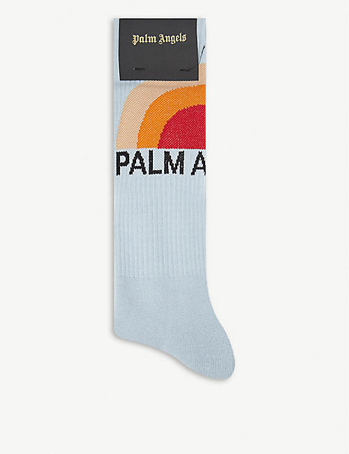 PALM ANGELS: Sunset-print cotton-blend socks