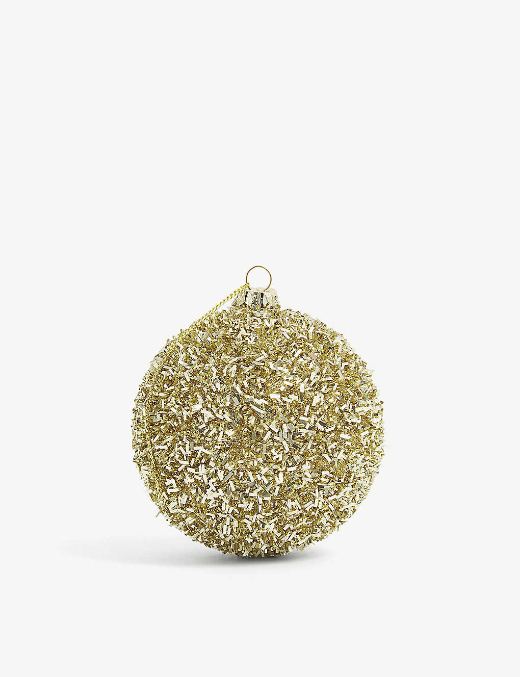 CHRISTMAS: Tinsel-effect bauble 26cm