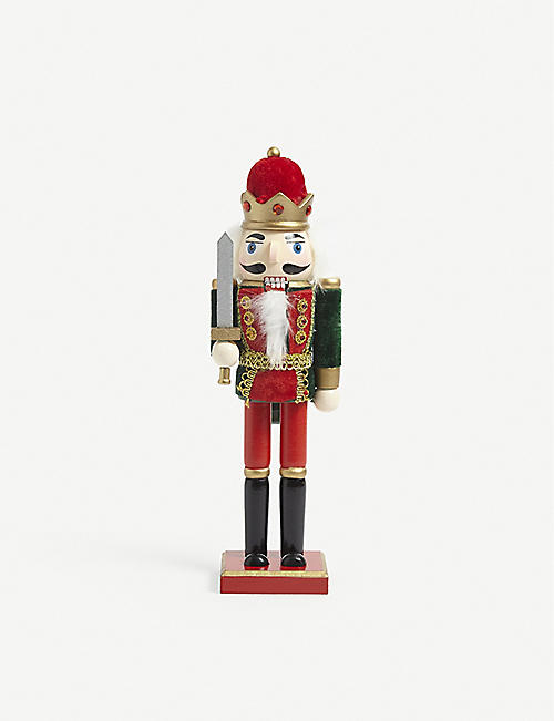 CHRISTMAS: Nutcracker wooden ornament 31cm