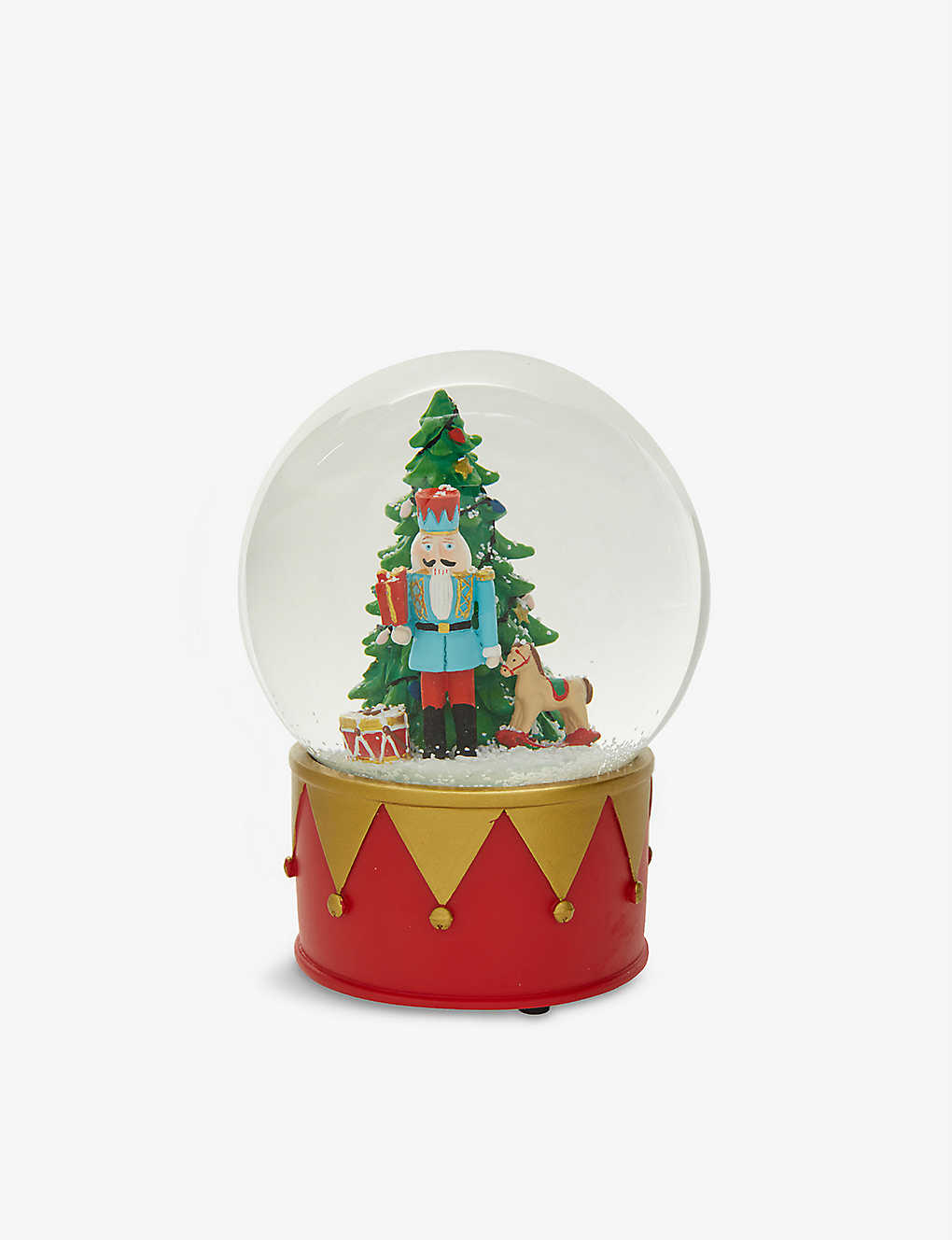 CHRISTMAS: Gisela Graham Nutcracker snow globe 15cm