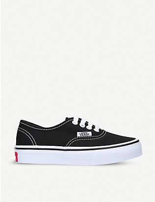 VANS: Authentic cotton-canvas skate trainers 5-8 years