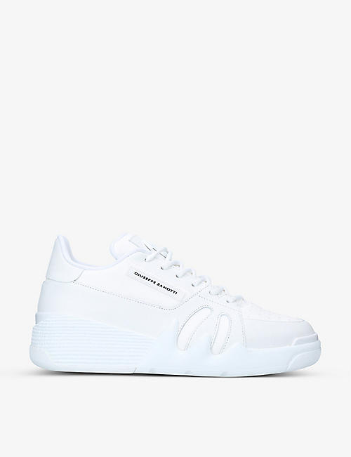 GIUSEPPE ZANOTTI: Talon low-top leather trainers