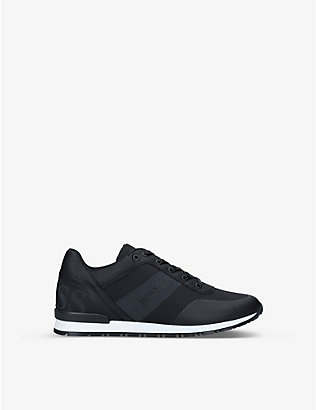 BOSS BY HUGO BOSS: Counter leather and mesh trainers