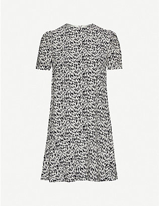 WHISTLES: Petal-print woven midi dress