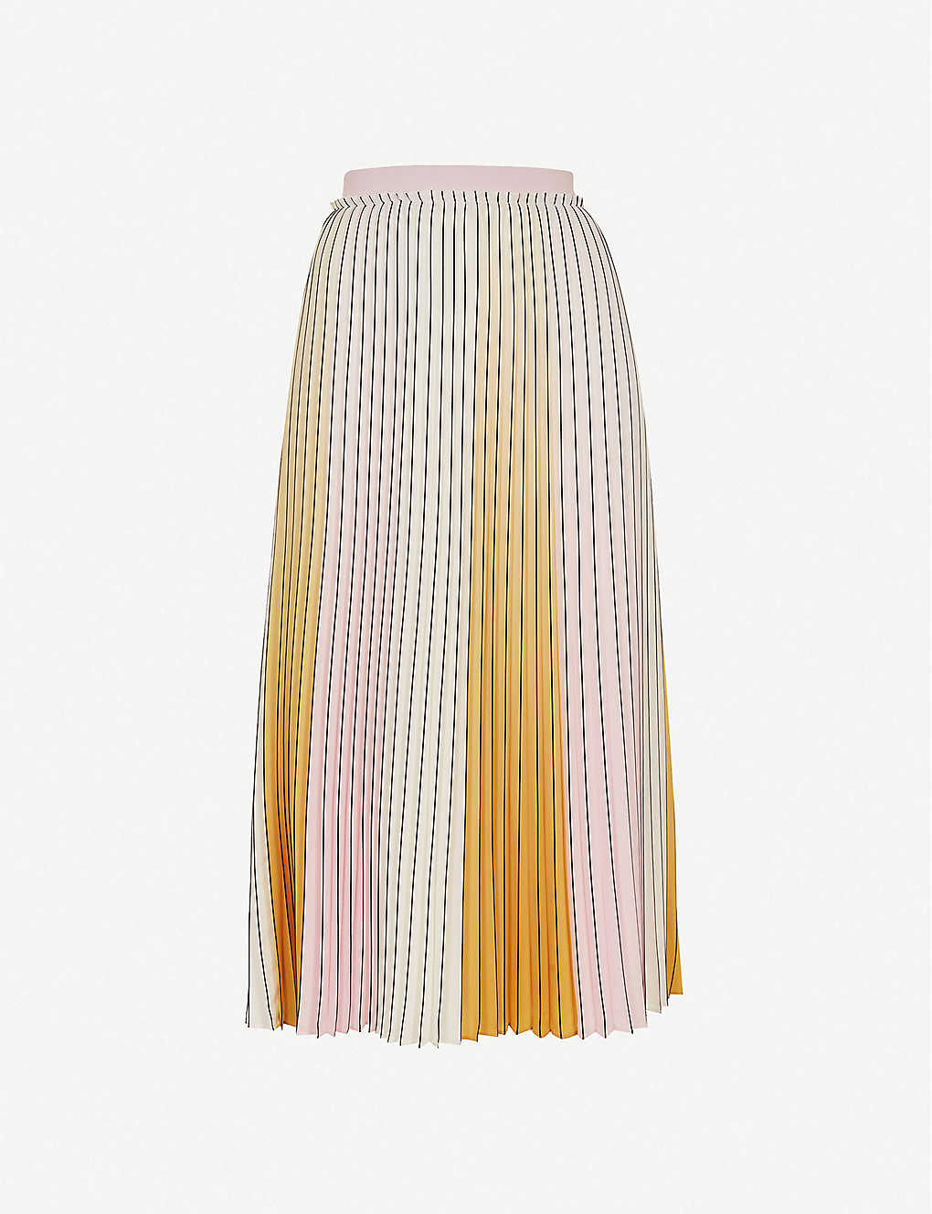 TED BAKER: Noviia pleated woven midi skirt