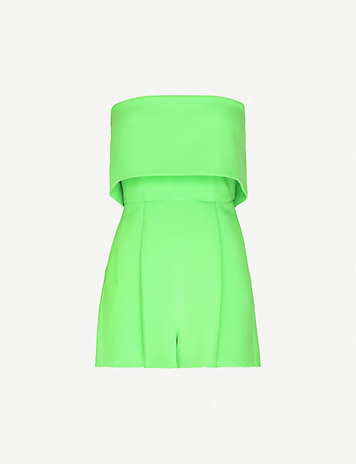 ALEX PERRY: Darby strapless stretch-crepe playsuit