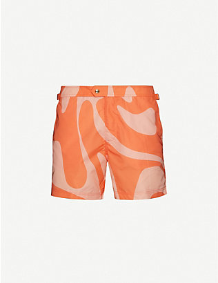 TOM FORD: Tailored pattern swim shorts