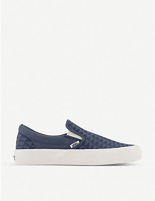 VANS: Classic geometric-print canvas trainers