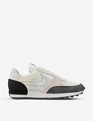 NIKE: DBreak-Type suede, leather and mesh low-top trainers