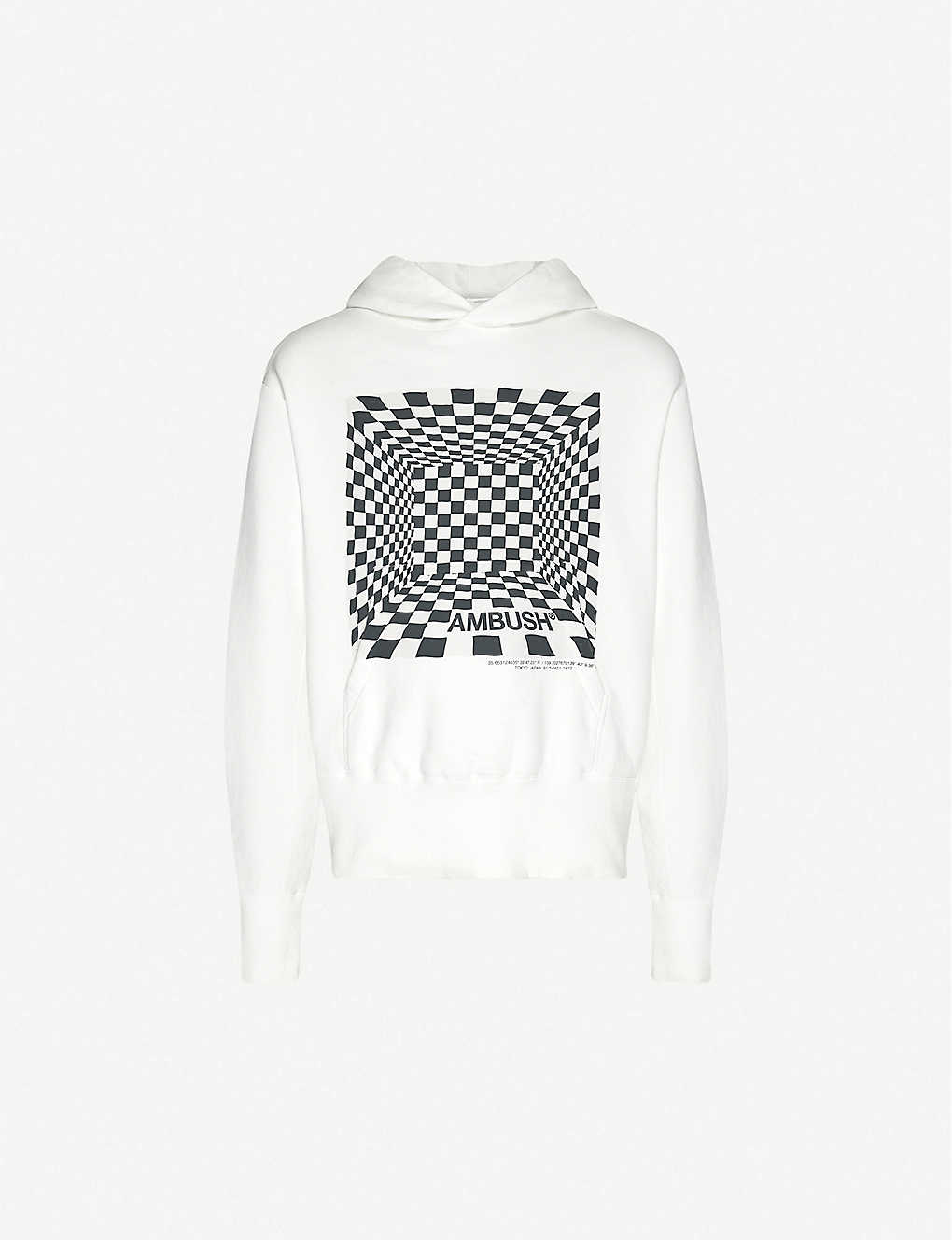 AMBUSH: Graphic-print cotton-jersey hoody