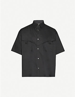 AMBUSH: Logo-embroidered regular-fit cotton shirt