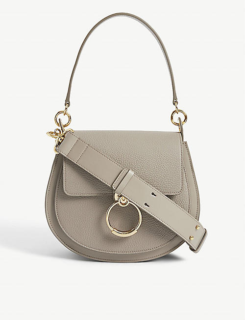 CHLOE: Tess leather shoulder bag