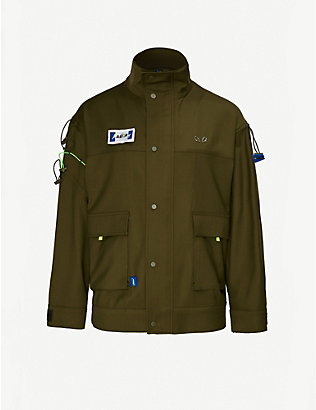 ADER ERROR: Drawstring-embellished wool-blend jacket