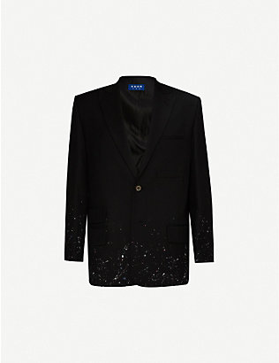 ADER ERROR: Graphic-embroidered single-breasted blazer