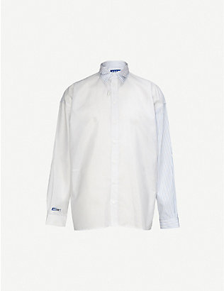 ADER ERROR: Striped oversized poplin shirt