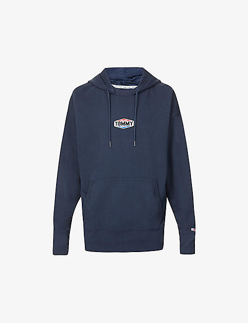 TOMMY JEANS: Brand-patch cotton-blend hoody