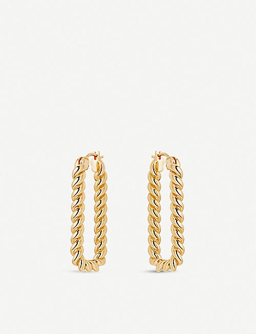 MISSOMA Tidal Ovate 18ct gold-plated earrings
