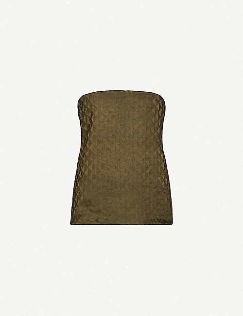 UMA WANG Tacy strapless linen-blend top