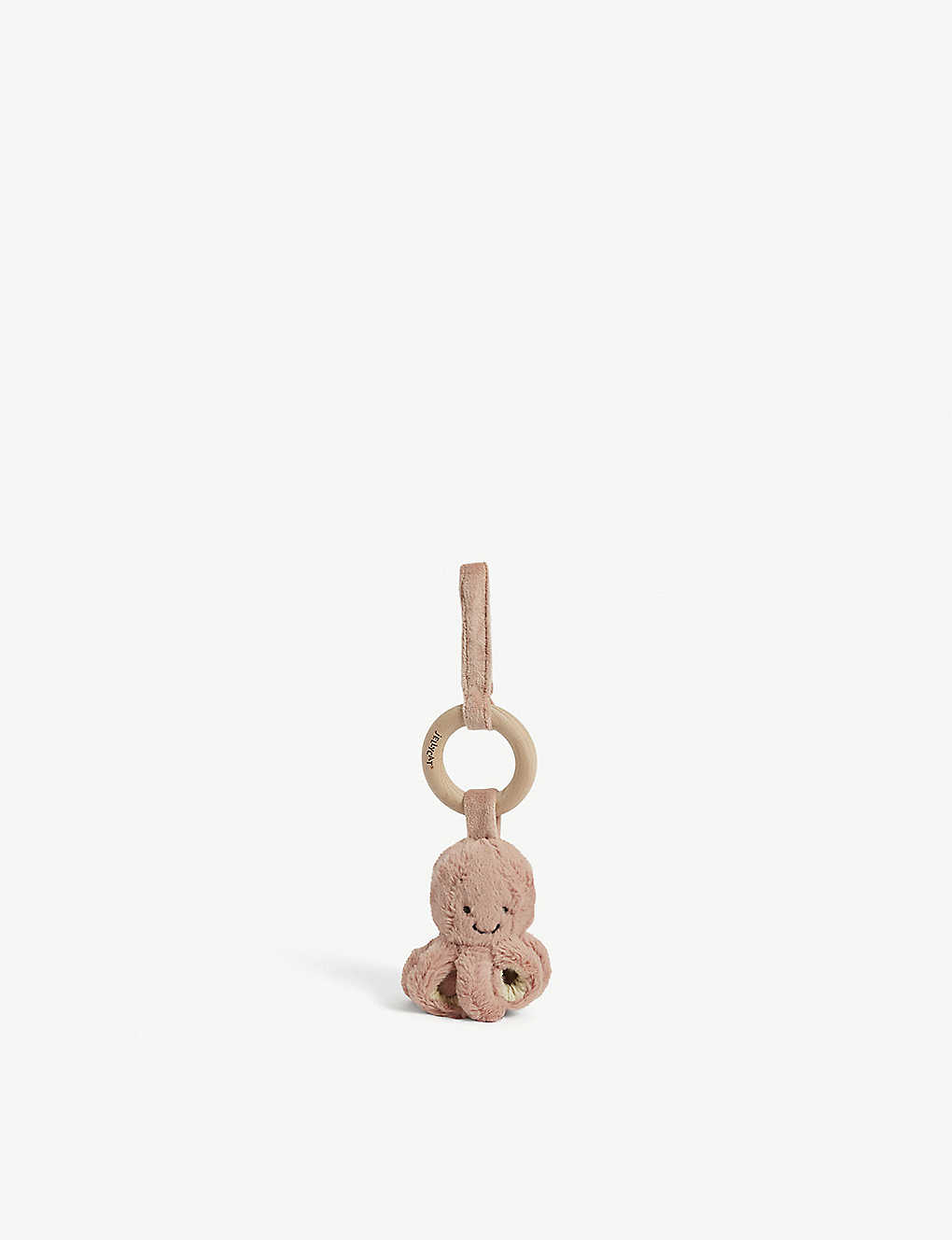 JELLYCAT: Odell the Octopus wooden ring soft toy