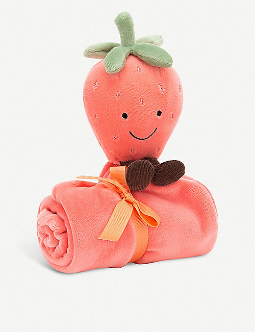 JELLYCAT Amuseable Strawberry soft toy and soother set