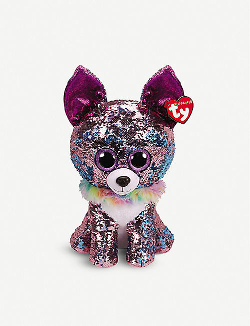 TY: Yappy Flippable sequin soft toy 41cm