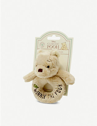 WINNIE THE POOH: Hundred Acre Wood Disney Winnie the Pooh plush ring rattle 12cm