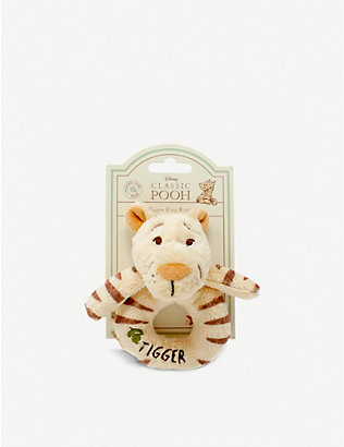 WINNIE THE POOH: Hundred Acre Wood Disney Winnie the Pooh Tigger plush ring rattle 12cm
