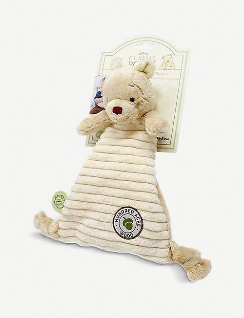 WINNIE THE POOH: Hundred Acre Wood Disney Winnie the Pooh woven comfort blanket 25cm