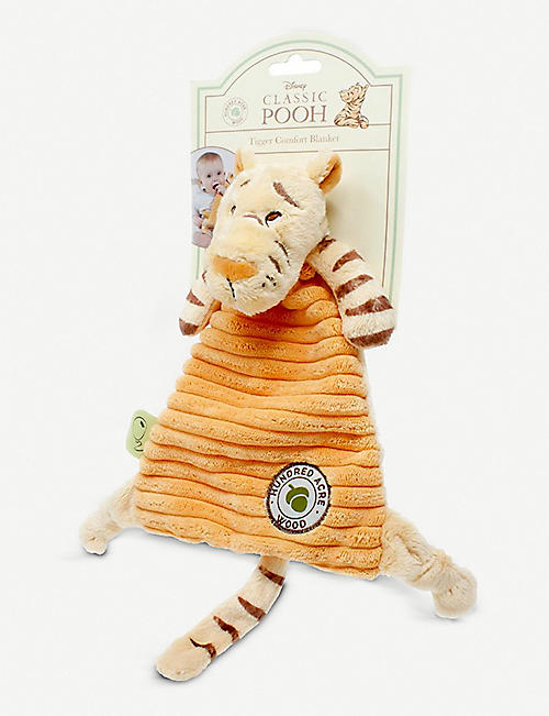 WINNIE THE POOH: Hundred Acre Wood Disney Winnie the Pooh Tigger woven comfort blanket 24cm