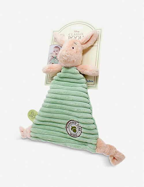 WINNIE THE POOH: Hundred Acre Wood Disney Winnie the Pooh Piglet woven comfort blanket 25.2cm
