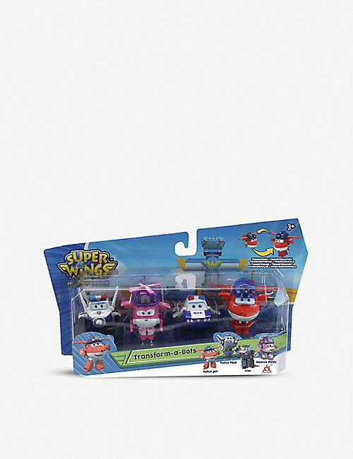SUPER WINGS: Transform-A-Bots toy set of four 3+