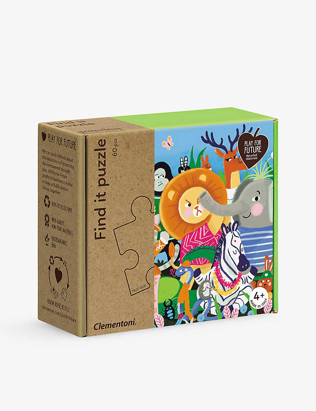 PLAY FOR FUTURE: All Together Find it recycled-paper 60-piece puzzle