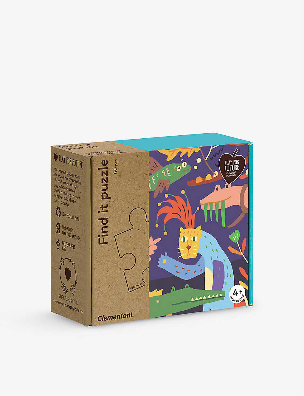 PLAY FOR FUTURE: Bungle in the Jungle Find it recycled-paper puzzle 18cm x 16cm