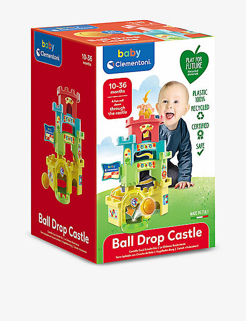 PLAY FOR FUTURE: Roll & Drop Castle recycled-plastic toy