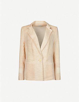 LE KASHA: Tima single-breasted linen jacket