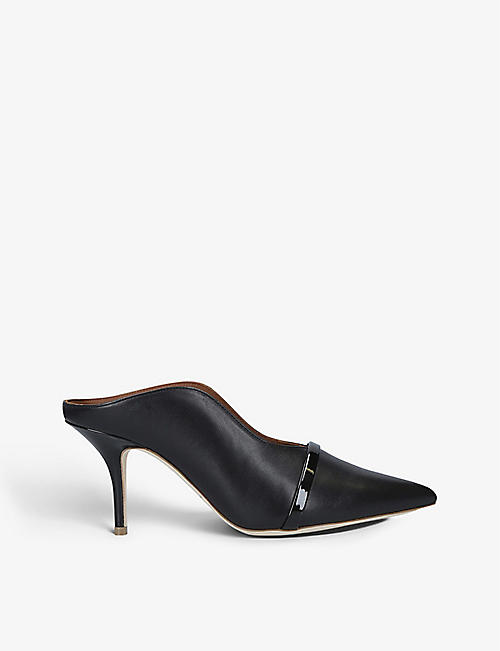 MALONE SOULIERS: Constance leather heeled mules