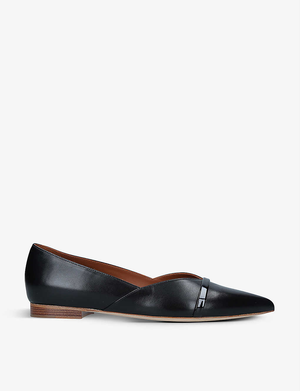 MALONE SOULIERS: Colette pointed-toe leather ballet flats
