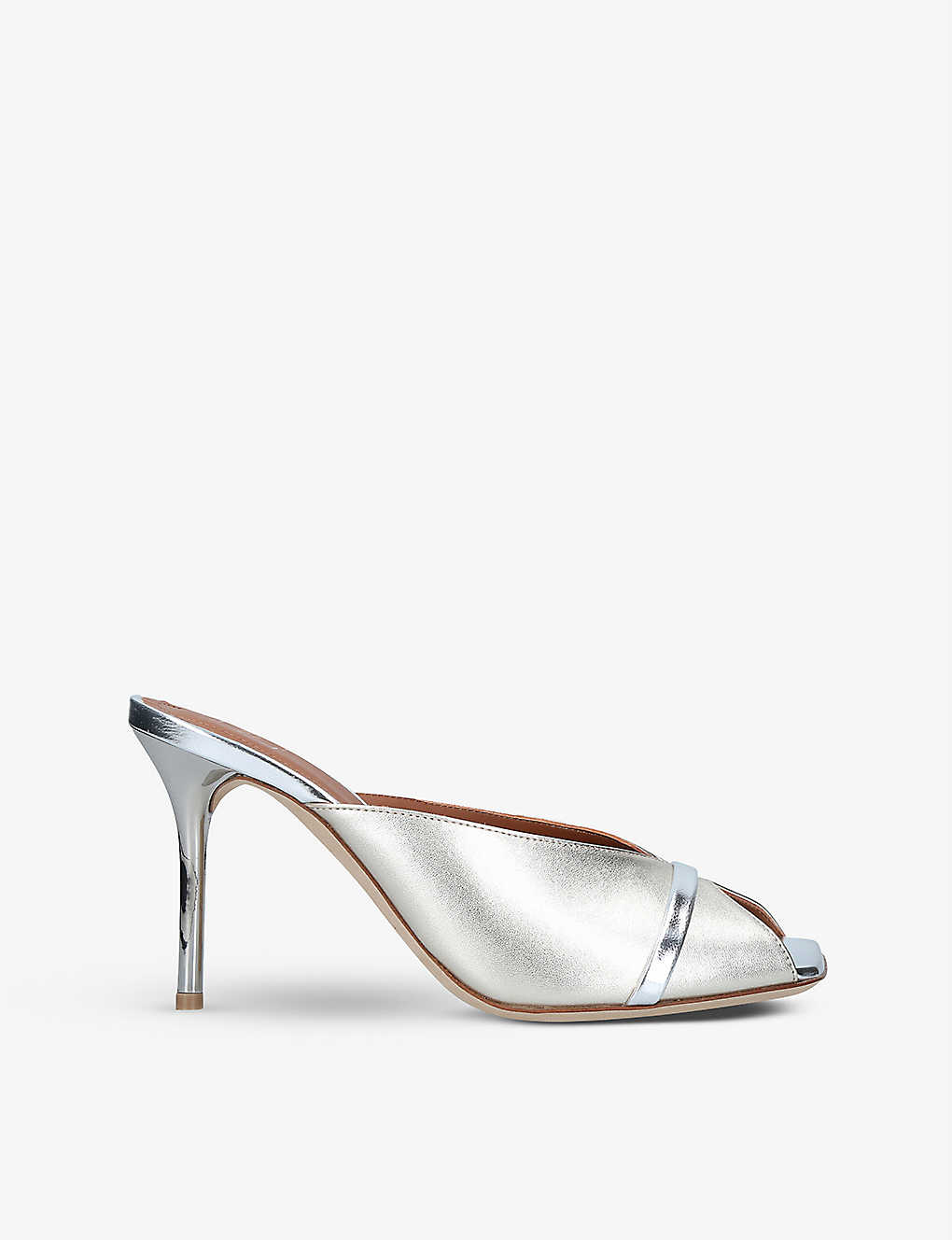 MALONE SOULIERS: Lucia square-toe heeled leather mules