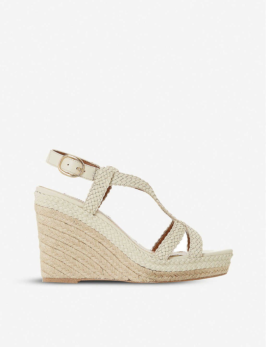 DUNE: Kew espadrille wedge-heeled leather sandals