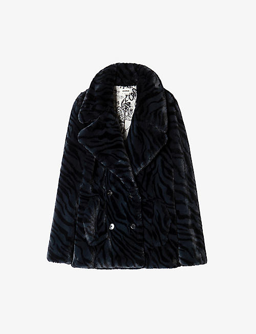 ZADIG&VOLTAIRE: Miller animal-striped faux fur coat