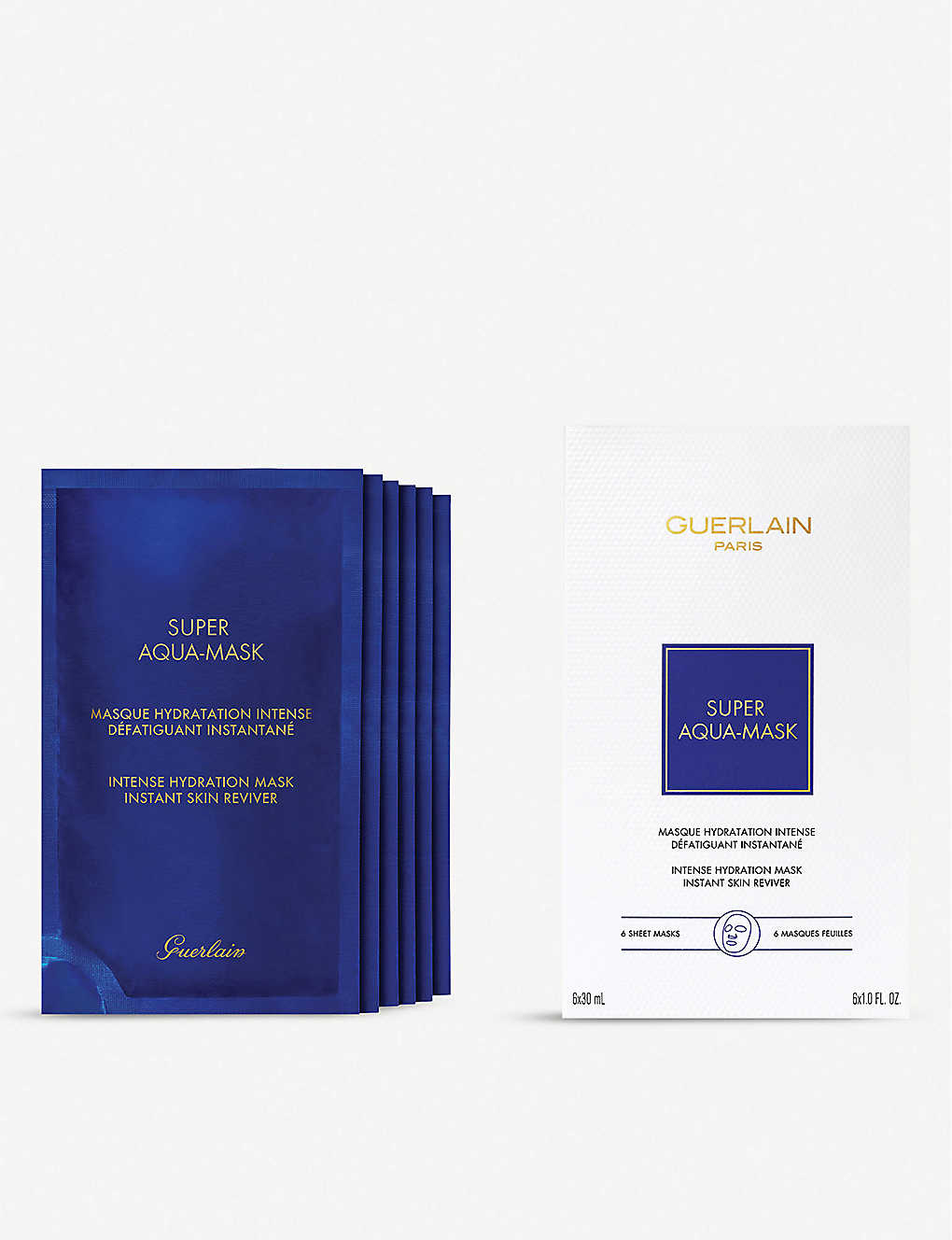 GUERLAIN: Super Aqua intense hydration mask pack of six