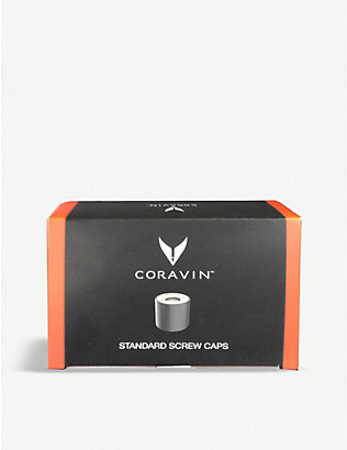 CORAVIN: Wine preservation screw caps pack of six