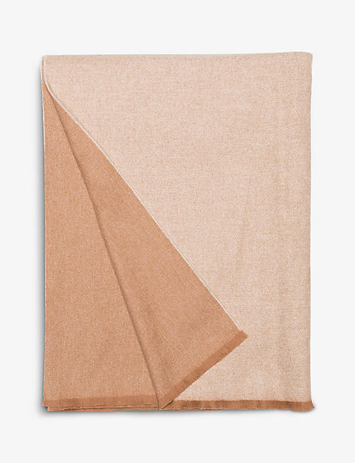 BEGG X CO: Vale lambswool and cashmere-blend throw 200cm x 147cm
