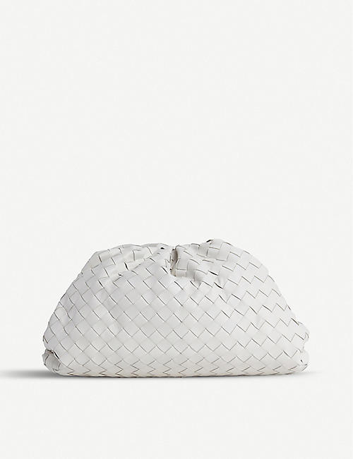 BOTTEGA VENETA The Pouch intrecciato leather clutch bag