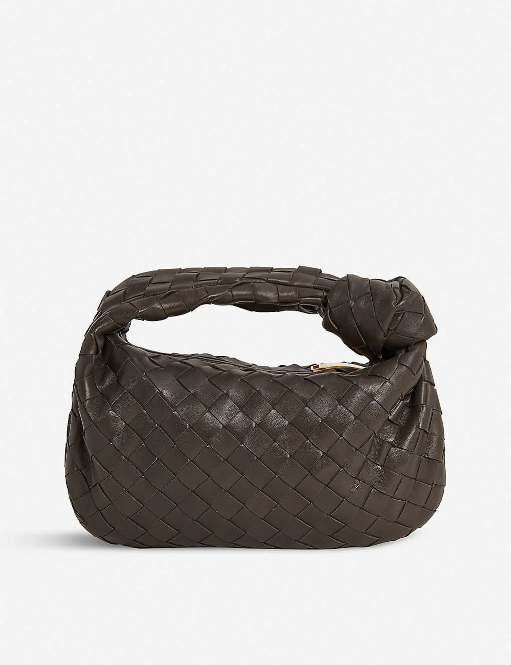BOTTEGA VENETA: Jodie intrecciato mini leather hobo bag