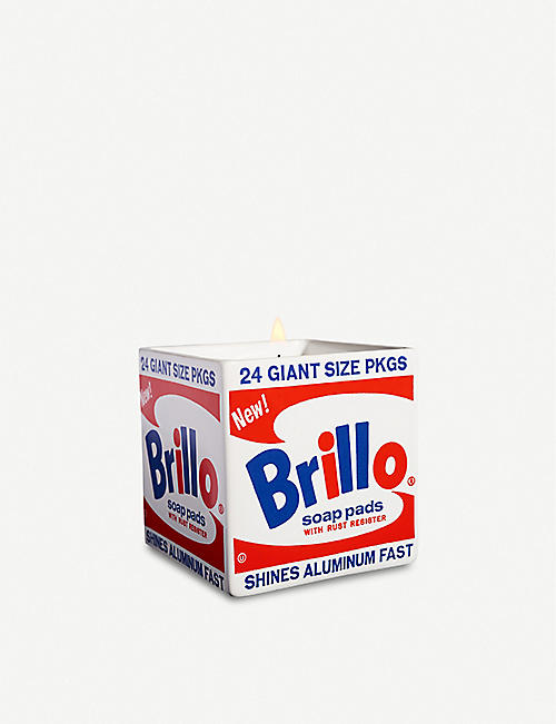 LIGNE BLANCHE: Brillo Box porcelain scented candle 260g
